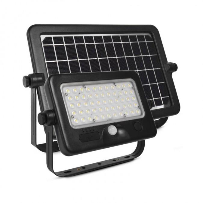 Projecteur LED SMD Solaire 10W + détecteur et câble USB