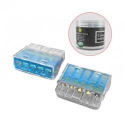 Boite de 50 connecteurs rapides 5 fils rigides