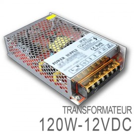 Transformateur LED 120W 12 Volts DC IP20