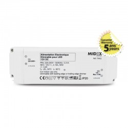 Transformateur Dimmable LED 50W 12 Volts DC