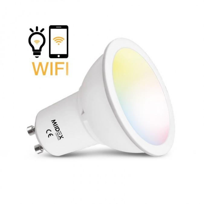 Ampoule LED CCT+RGB Connectée GU10 5W