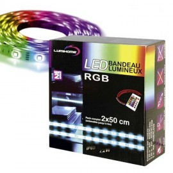 Coffret 2x50cm Ruban LED RGB