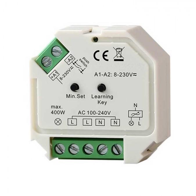 Micro-module Variateur / Récepteur 230V RF 1x Channel 400W