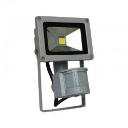 Projecteur LED COB 10W Extérieur IP65 Gris + Détecteur
