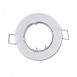 Support de spot Rond Blanc Fixe Ø77mm