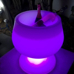 Seau à champagne lumineux multicolore ZINGY C52