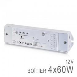 Boitier Variateur / Récepteur RF 4x Channels 12v