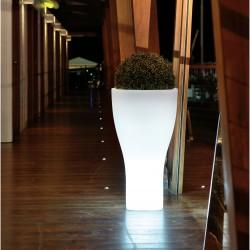 Pot lumineux Blanc FLORY W