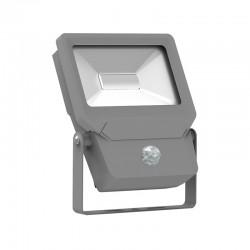 Projecteur LED SMD 20W Design Plat Extérieur IP65 + Détecteur