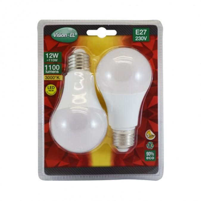 Lot de 2 Ampoules LED E27 12W Bulb