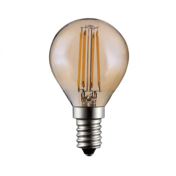 Ampoule LED E14 4W COB Filament P45 Golden