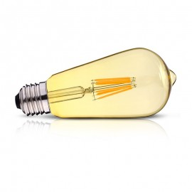 Ampoule LED E27 Edison Golden ST64 4W COB Filament