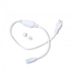 Câble Alimentation + Embout fin + Connecteur Pin Mâle/Mâle pour Ruban Néon Flex
