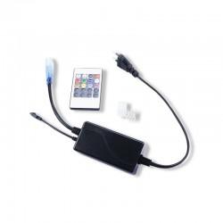 Câble Alimentation + Embout fin + Connecteur Pin Mâle/Mâle pour Bobine Ruban LED RGB