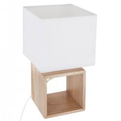 Lampe carrée en bois H32
