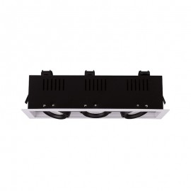 Spot LED triple à cardan orientable 3x10W