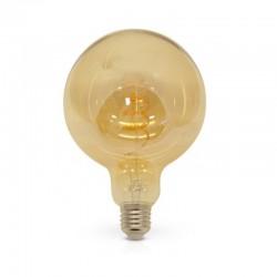 Ampoule LED E27 Globe 4W COB Filament Spirale G125 Golden