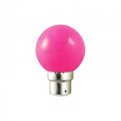 Lot de 10 ampoules LED B22 1W Rose pour Guirlande Extérieure