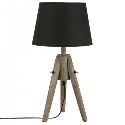Lampe MIRY en bois & abat-jour cône H46