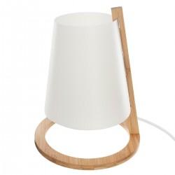 Lampe en bambou & abat-jour plastique H26