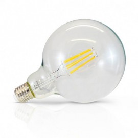 Ampoule LED E27 Globe 8W COB Filament G125 (Dimmable en option)