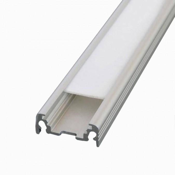 Profilé Aluminium LED Plat - Ruban LED 10mm