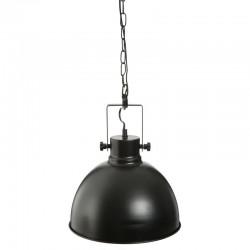 Suspension ronde noire en métal H26