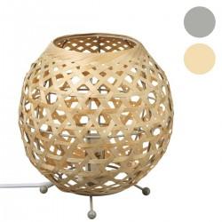 Lampe ovale Yazu en bambou H21,5