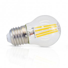 Ampoule LED E27 4W COB Filament G45 (Dimmable)