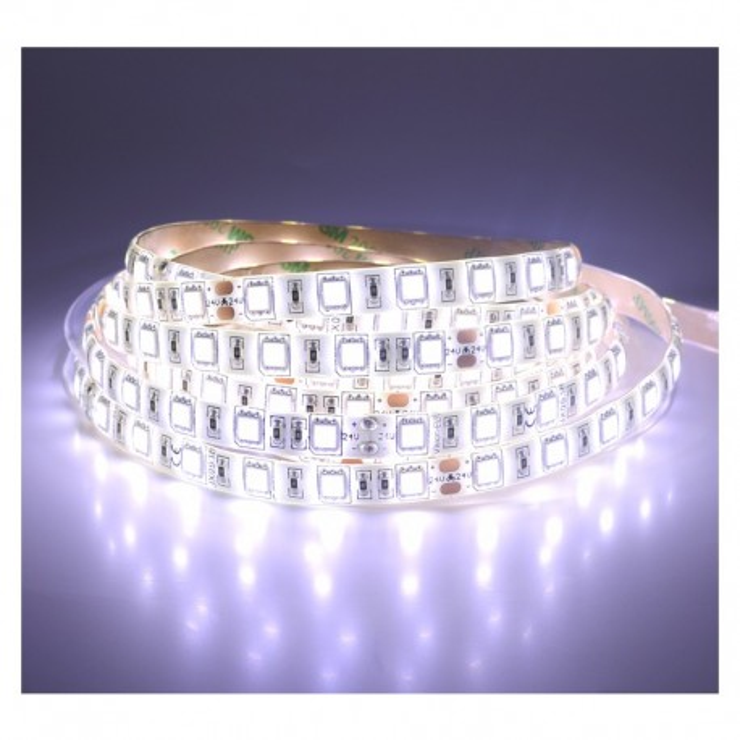 Ruban LED 14.4 Watts /m - Blanc - Rouleau 5M 24V