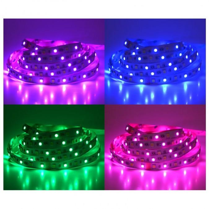 Ruban LED 14,4 Watts /m RGB+White - Rouleau 5M 24V