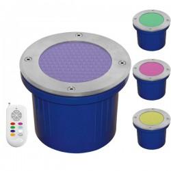 Spot 230V encastrable extérieur 144 LED RGB