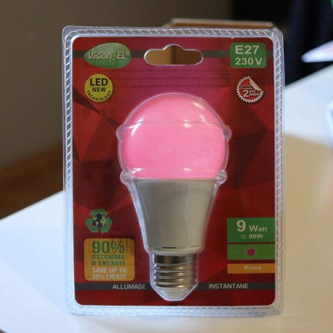 Ampoule LED E27 9W Bulb Rose