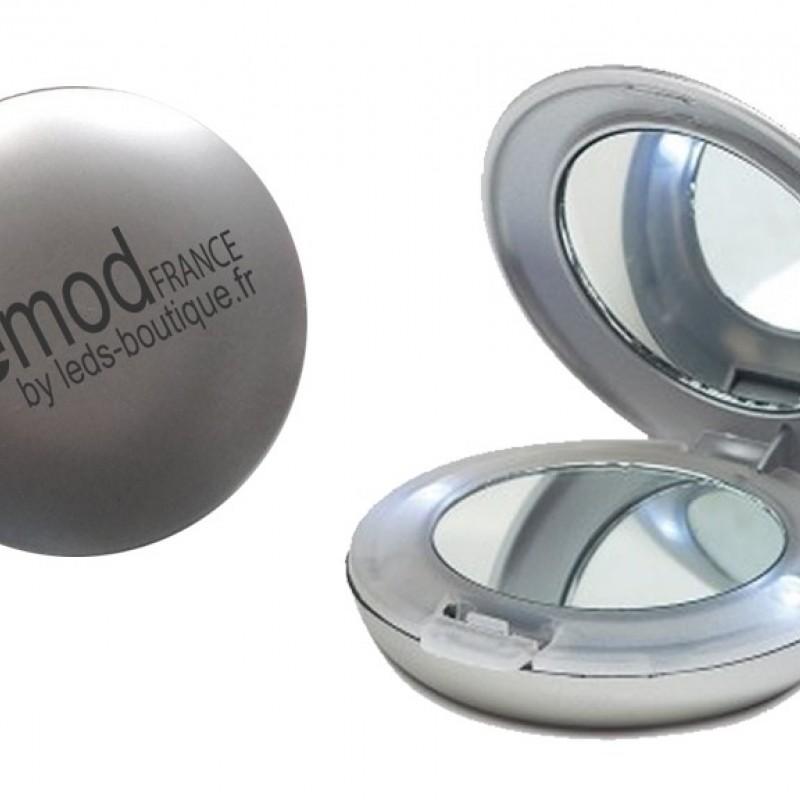 Miroir de poche grossissant avec led int gr es for Miroir de poche