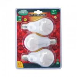 Lot de 3 Ampoules LED E27 12W Bulb