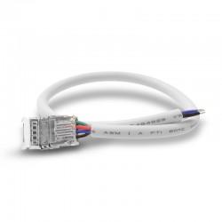 Connecteur jonction à câble ruban LED CCT 12V/24V 10 mm