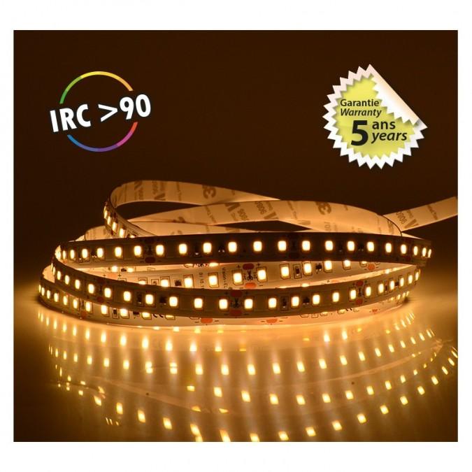Ruban LED 14.4Watts/m - Blanc 3000°K - Rouleau 5 m