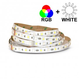 Ruban LED 14,4 Watts /m RGB+White - Rouleau 5M 12V