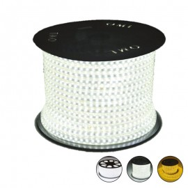 Bobine LED - Blanc - 50 mètres - IP65 - 230V