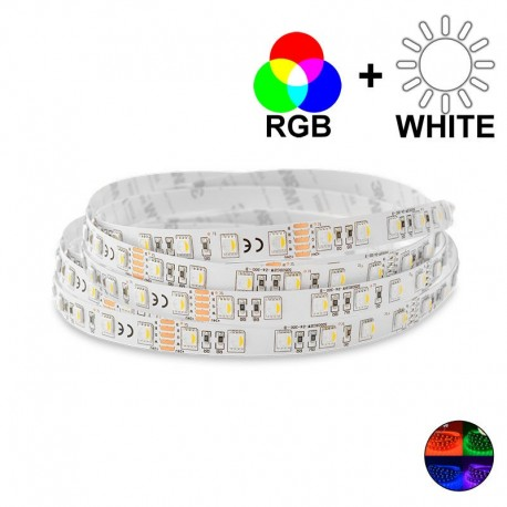 Ruban LED 19,2 Watts/m - RGBW MonoLED - Rouleau 5 mètres 24V